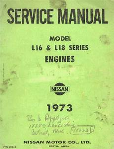 Nissan Model L16  U0026 L18 Engines Service Manual