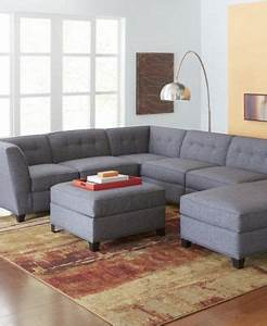 harper fabric 6 piece modular sectional sofa square With harper fabric 6 piece chaise modular sectional sofa
