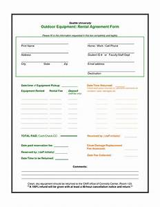 equipment lease agreement template With equipment hire form template