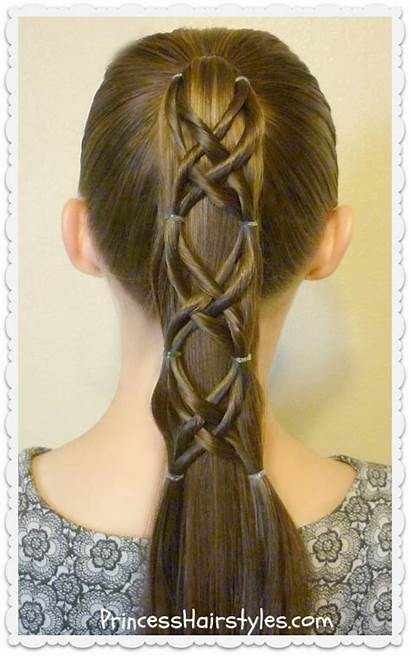 Criss Ponytail Hairstyle Cross Hair Woven Easy