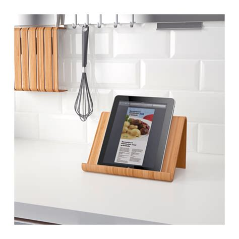 support cuisine tablette rimforsa tablet stand bamboo 26x17 cm ikea