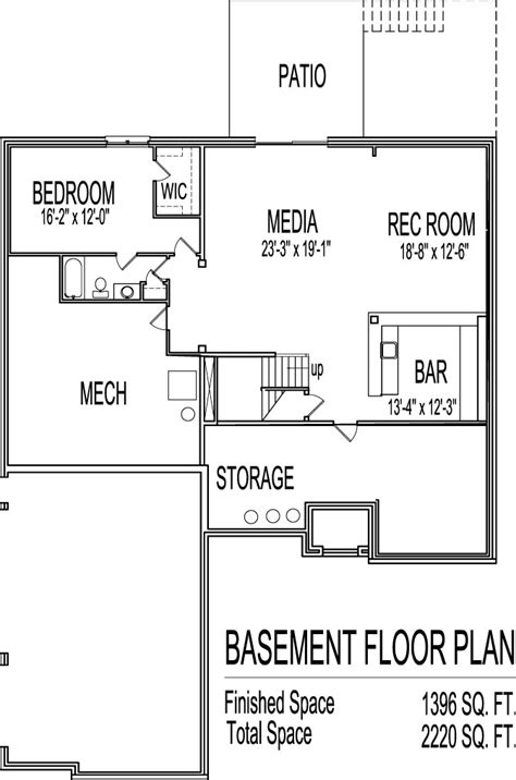 basement plan awesome home plans with basements 13 2 bedroom house