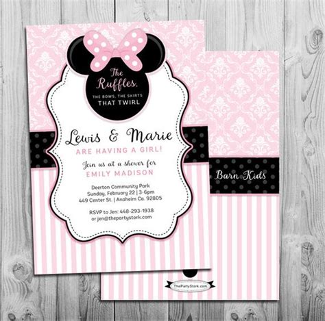 minnie mouse baby shower invitations city minnie mouse baby shower invitation printable invite pink