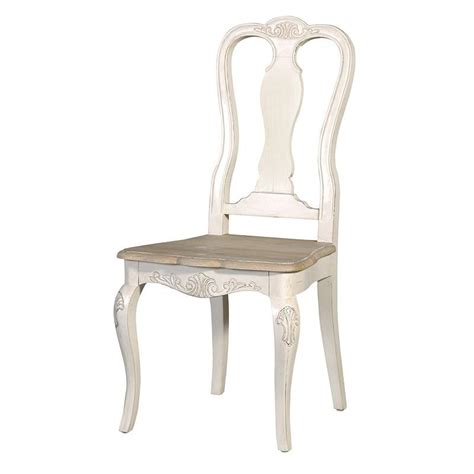 oak shabby chic carved dining chair