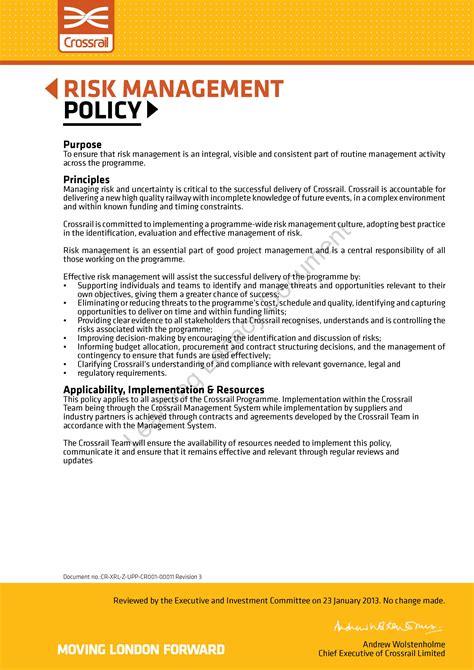 Risk Management Crossrail Learning Legacy