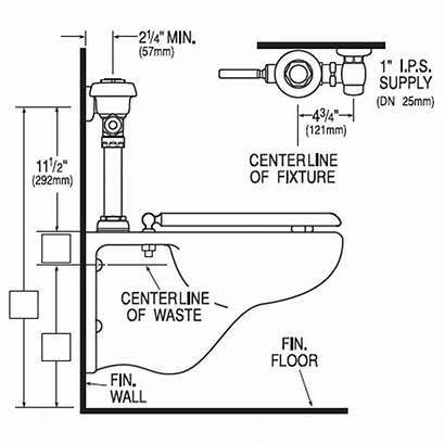 Flushometer Closet Royal Gpf Sloan Valve Handle