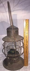 Antique railroad lantern w n rr worcester nashua whale oil