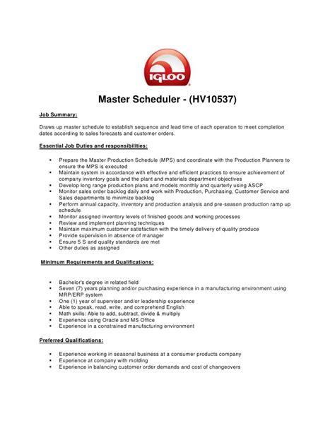 production scheduler description scheduler