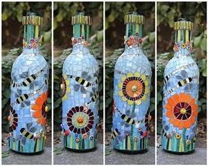 Leere Flaschen Für Likör : bee is for bottle mosaic bottles pots vases pinterest mosaik und glas ~ Markanthonyermac.com Haus und Dekorationen