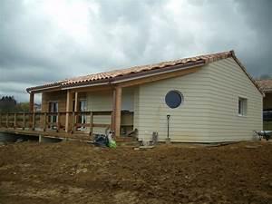 Bardage Fibre Ciment : chantier maison bois construction bois agrandissement en ~ Farleysfitness.com Idées de Décoration