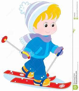 Child skiing stock vector. Illustration of kindergarten ...