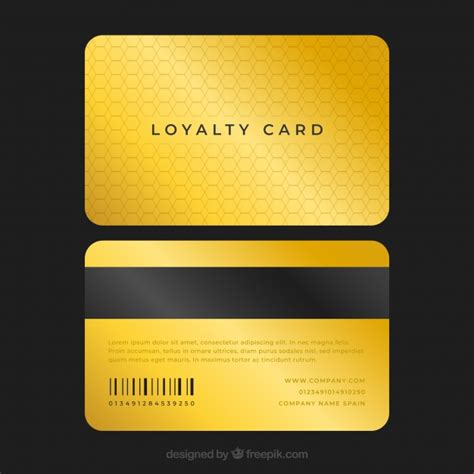 elegant loyalty card template  golden style vector
