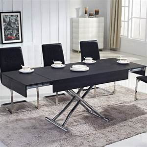 Table Basse Relevable But : table basse relevable ema bois noir tables relevables topkoo ~ Teatrodelosmanantiales.com Idées de Décoration