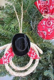 cowboy country christmas ornaments
