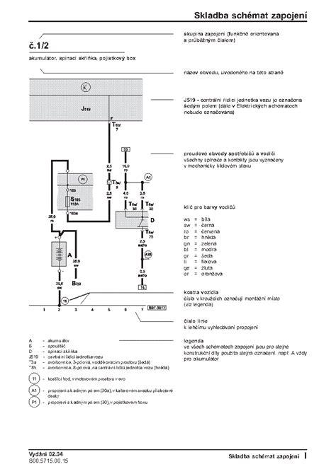 Skoda Start Wiring Diagram by Skoda Octavia Ii Electric Wiring Diagram Service Manual