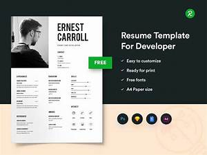 Cover Page Sample For Resume Free Resume Template For Developers With Portfolio By