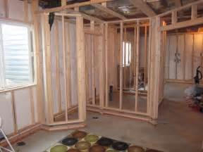 Hanging Drywall On Ceiling Tips by Basement Bedroom Framing Stage Image 3 How To Finish