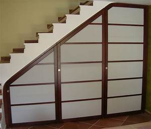 panneaux japonais dressing concept With porte de placard sous escalier