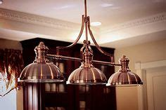 copper light fixture on low ceiling lighting