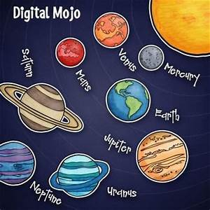 Solar system and planet clipart 8 planets - Clipartix