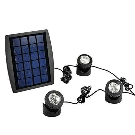 exlight led solar powered submersible outdoor ls rgb