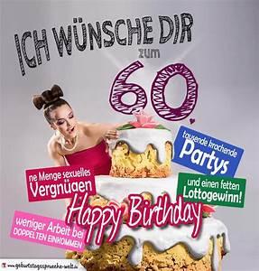 60 Geburtstag Frau Lustig : lustige geburtstagskarten zum 60 geburtstag kostenlos einladung geburtstag ~ Frokenaadalensverden.com Haus und Dekorationen