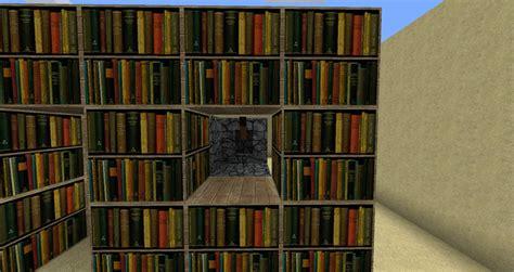 Minecraft Secret Bookcase Door by Bookshelf Piston Door Minecraft Project