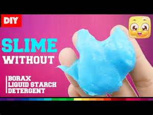 Make Slime without Borax or Starch Liquid
