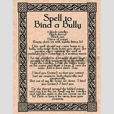 Spell To Bind A Bully, Stop Your Enemy In His Tracks! Book Of Shadows Page Picclickcom
