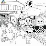 Train Thomas Coloring Pages Drawing Halloween Printable Friends Diesel Cartoon Tracks Railroad Colouring Sheets Printables Activities Print Christmas Template Tank sketch template