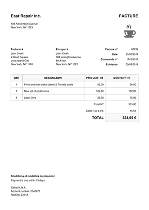 cours de cuisine macon modèle de facture 100 modèles pdf télécharger ou envoyer