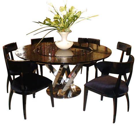 ac  black high gloss crocodile textured glass dining