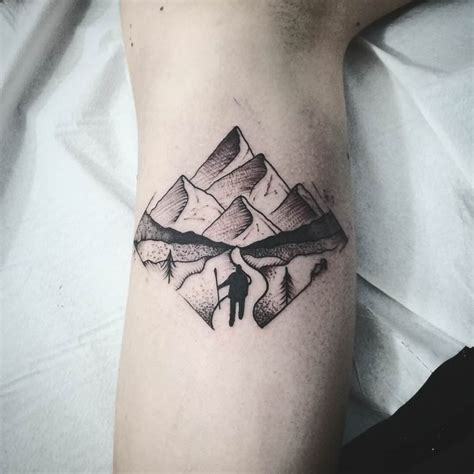 mountain tattoos lets climb high wild tattoo art