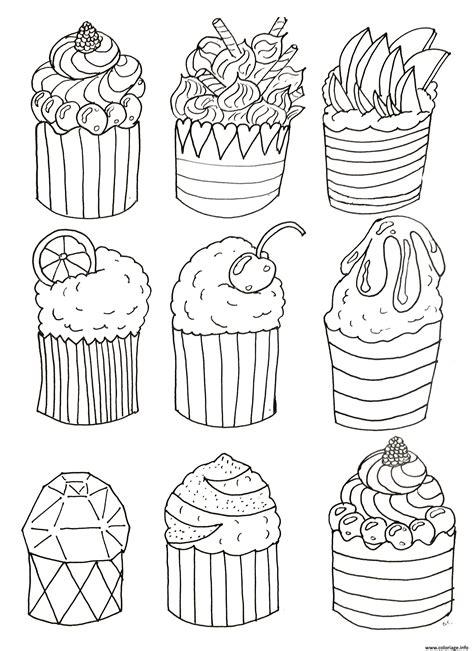 jeux de cuisine à télécharger gratuitement coloriage simple cup cakes par olivier dessin