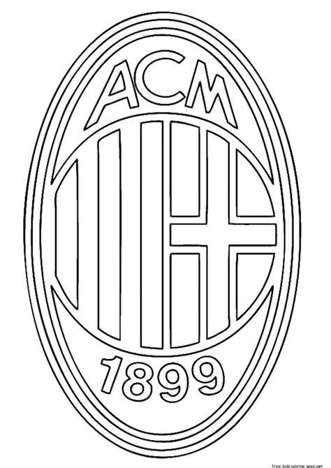 printable soccer ac milan logo coloring pages  kidsfree