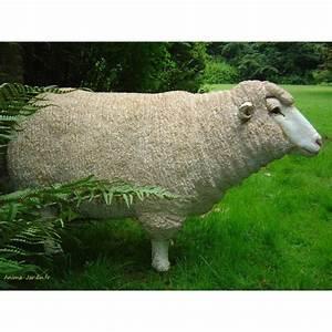 Statue De Jardin En Résine : mouton debout en r sine brebis t te haute animal de la ~ Dailycaller-alerts.com Idées de Décoration