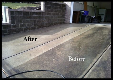 hydro power wash concrete cleaning