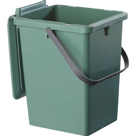 poubelle à compost de cuisine seau monobloc garantia bio seau vert sapin 8 l leroy merlin