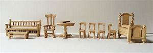 How To Make Doll Furniture With Popsicle Sticks Plans DIY
