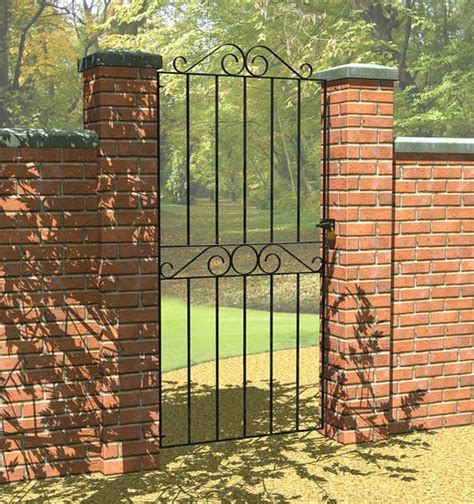 wide garden gates ironbridge single tall wide black metal garden gate internet gardener