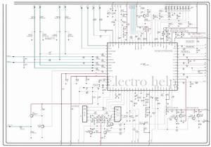 Electro Help  Cl21a551 Samsung Crt Tv  U2013 Circuit Diagram  U2013 Tda12120h  Smd   U2013 La78045