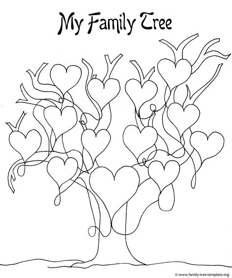 Family Tree Template For Pages by A Printable Blank Family Tree To Make Your Genealogy