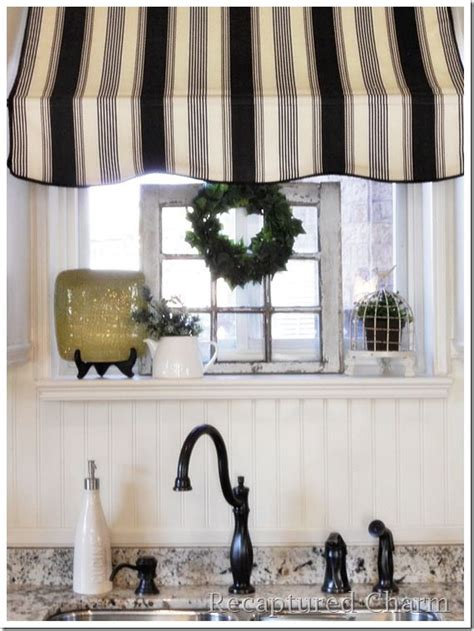 ways  dress   kitchen window    curtain
