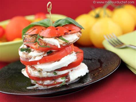 la cuisine de philippe menu tomate mozzarella recette de cuisine illustrée meilleurduchef com