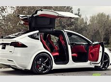 A custom Tesla Model X with a Bentley's interior goes on