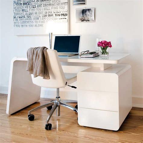 Design Schreibtisch In Weiß  Utony Pharao24de