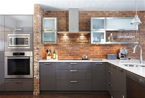 cuisine avec credence inox credence brique 2017 et chambre credence brique