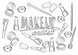 Coloring Makeup Lipstick Printable художника макияжа страница τη καλλιτεχνών σελίδα Lipsticks Whitesbelfast Cosmetics Brushes με τις Wedothings τίτλος αγαπώ sketch template