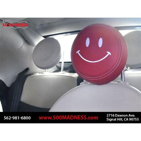 Sam Swope Fiat by Fiat 500 Headrest Covers 2 W White Happy