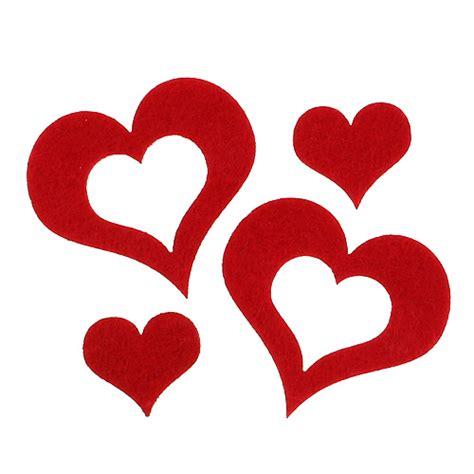 deko herzen hochzeit streu deko herzen filz 2 5cm 5cm rot 24st preiswert kaufen